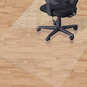 Alfombrilla para silla para suelos duros, 120 x 90 cm, material no reciclable: Amazon.es: Hogar
