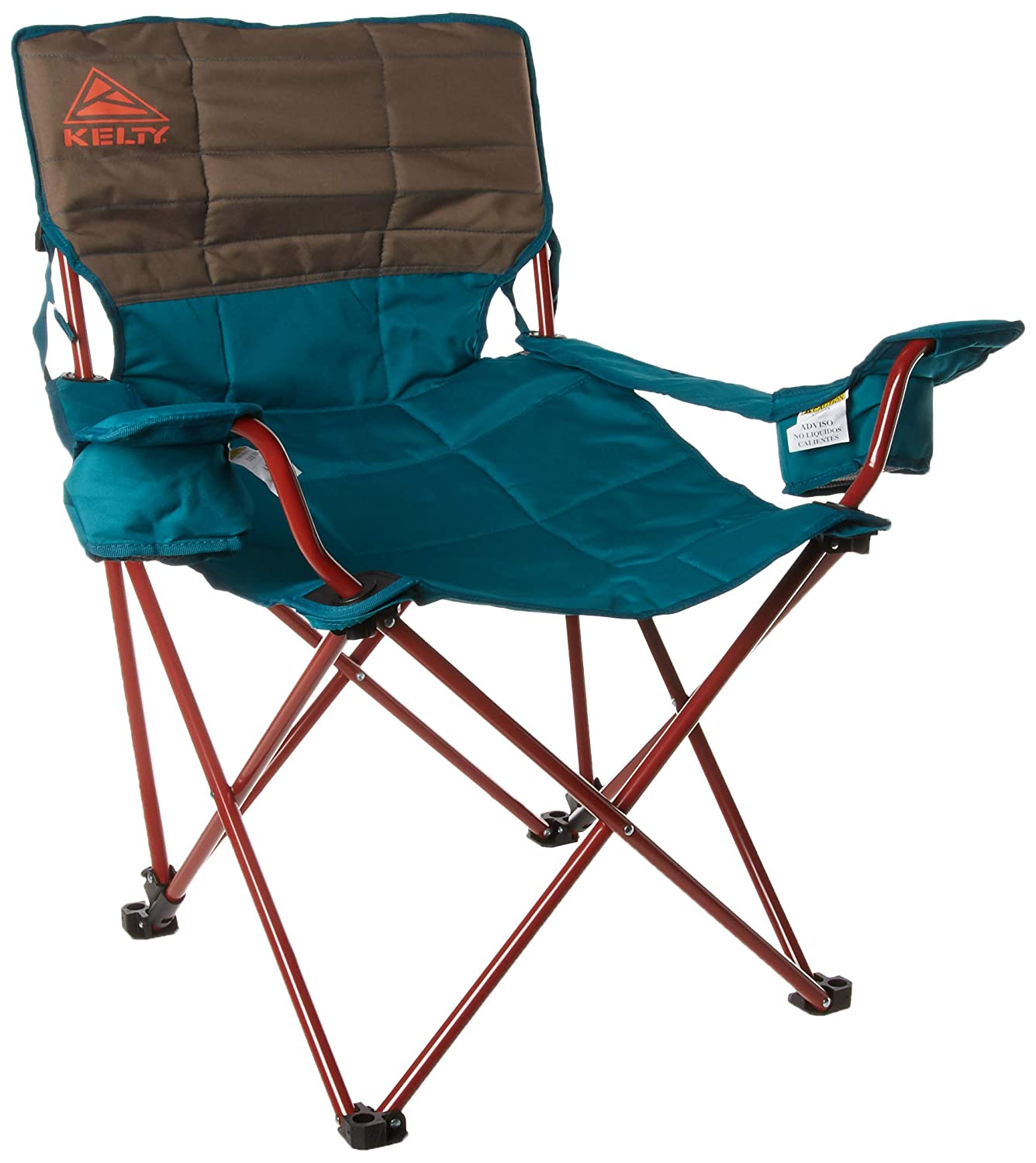 Kelty Deluxe Reclining Lounge Chair, Deep Lake Fallen Rock Folding Camp Chair for Festivals, Camping and Beach Days – Updated 2019 Model
