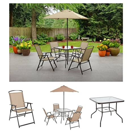 Prime Albany Lane 6 Piece Folding Dining Set By Mainstays Patio Table Patio Folding Chair Patio Umbrella Patio Dining Set Outdoor Decorations Outdoor Lamtechconsult Wood Chair Design Ideas Lamtechconsultcom