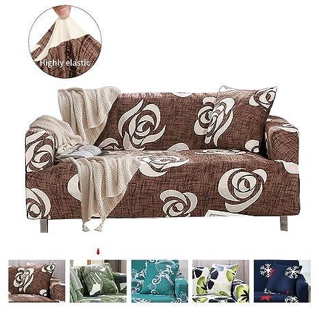 Funda de sofá de 1,2,3,4 plazas Cubierta de sofá elástico de punto Protector de Sofá