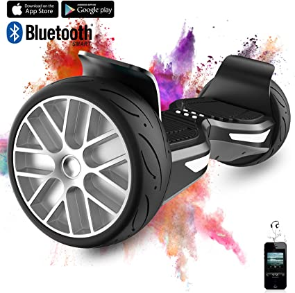 Bluetooth 350W*2 Motor LED R/äder COLORWAY 8,5 Zoll Hover Scooter Board Elektro Scooter Smart Scooter Self Balance Board All Terrain Off Road Riefen