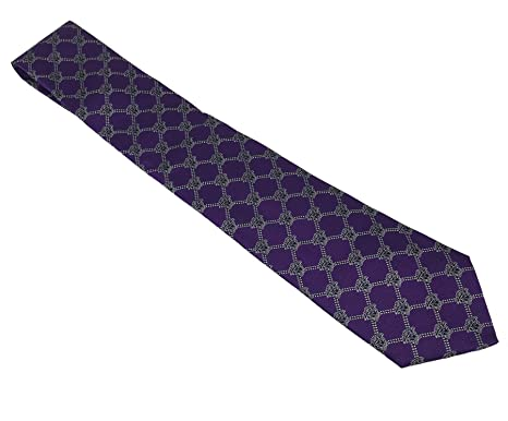be91b6cf7ebe Gianni Versace Men's Medusa Pattern Italian Silk Tie (Violet) at ...