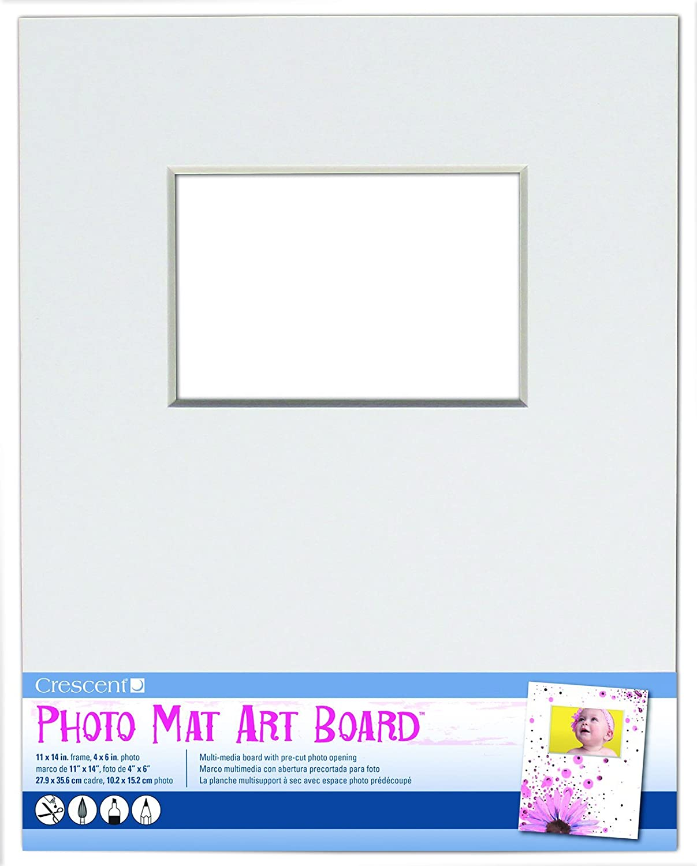 Amazon.com: Crescent Cardboard Co White Photo Mat Art Board (1 Pack ...
