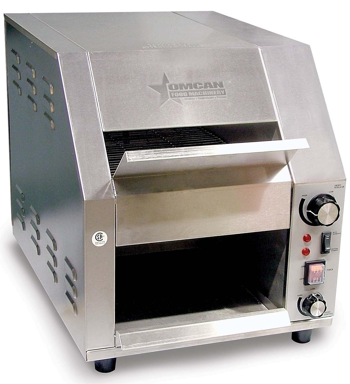 Omcan 19938 Commercial Conveyor Toaster Bun, Bagel, Bread, Toaster 120 volt ETL