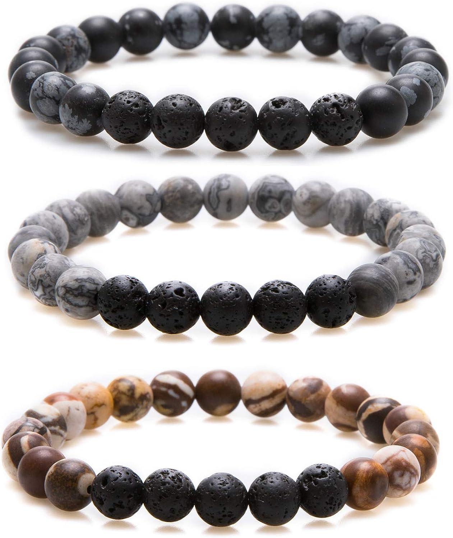 Gemstone bracelet. diffuse bracelet Essential Oils bracelet,Oil diffuser bracelet Lava vulcanic beads bracelet Agate mala beads jewelry