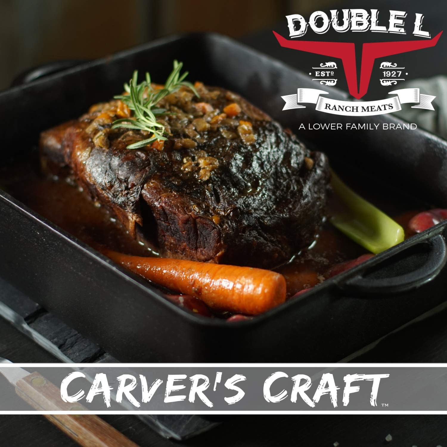 Beef Chuck Pot Roast by Double L Ranch Meats | Fully Cooked | ~9 Lbs.