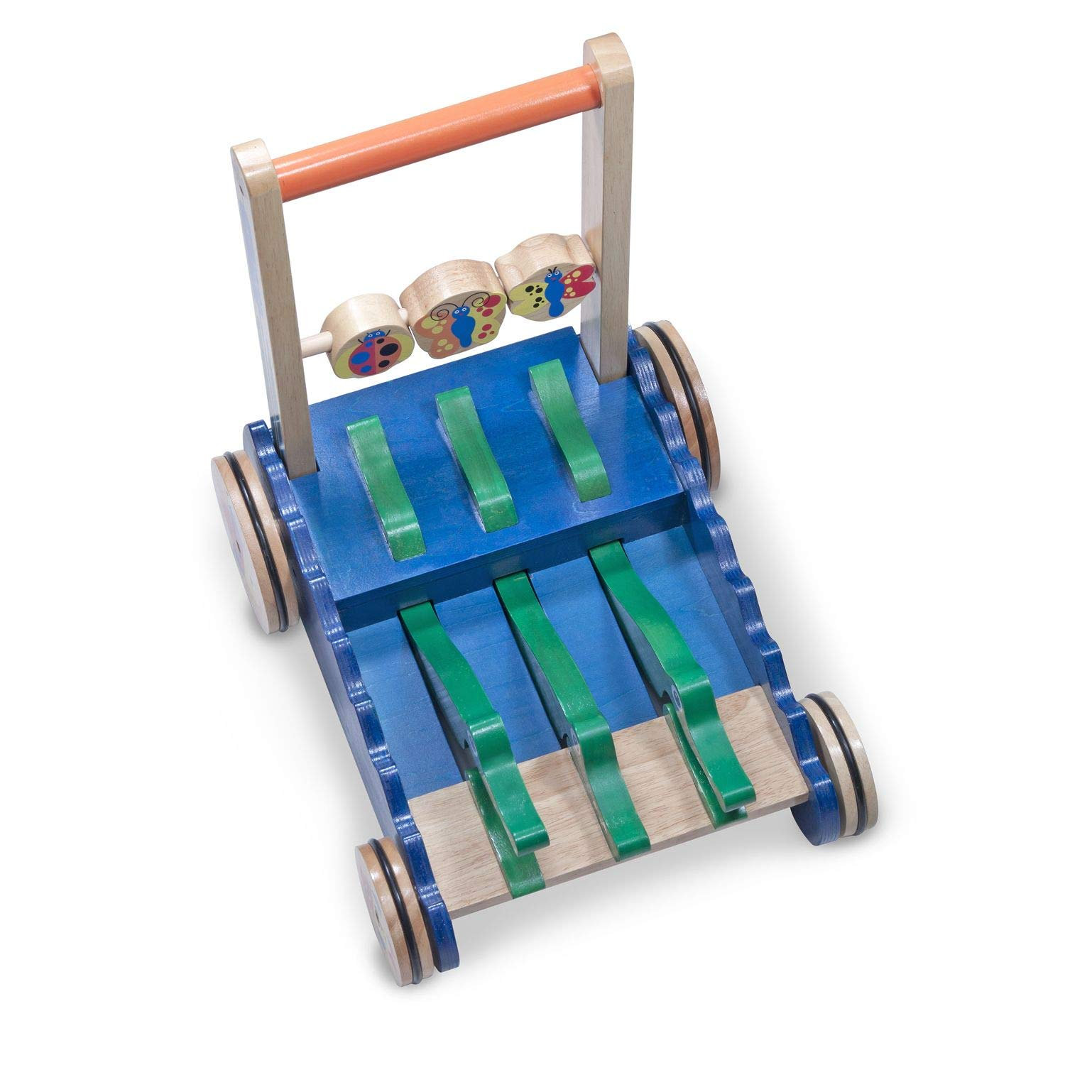 Melissa & Doug Deluxe Chomp and Clack Alligator Wooden Push Toy and Activity Walker by Melissa & Doug (Image #5)