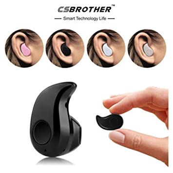 bluetooth headphones. bluetooth headphones csbrother smallest wireless invisible mini earphone earbud headset headphone(black)