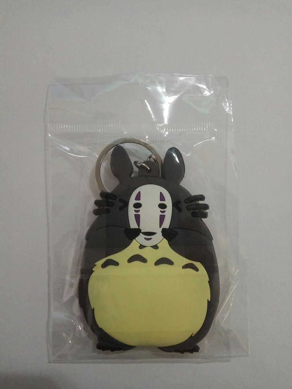 WoloShop Llavero de goma Totoro No Face Mi vecino Totoro El ...