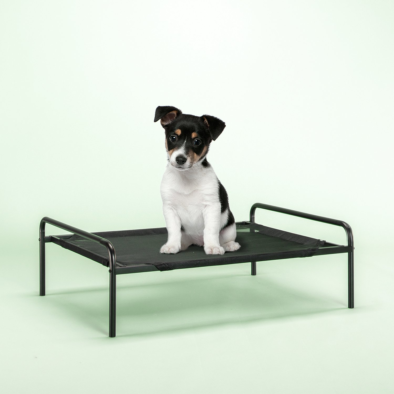 Zinus Elevated Metal Framed Comfort Pet Bed Small in Black