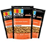 KIND Healthy Grains Clusters, Peanut Butter Whole Grain Granola, 10g Protein, Gluten Free, 11 Ounce (Pack of 3)