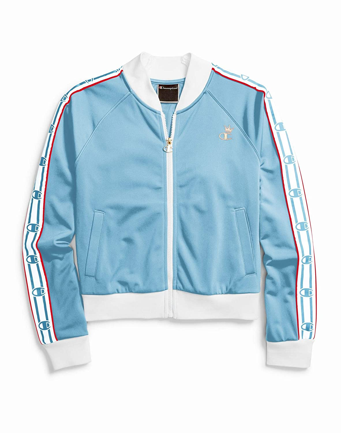 Champion Life Womens Track Jacket, XXL, Active Blue/White/Red ...