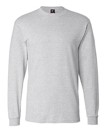 b1992326f44ccc Hanes Adult Beefy-T Long-Sleeve T-Shirt | Amazon.com