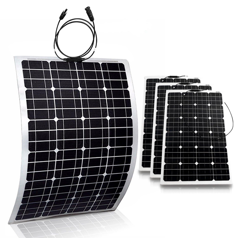 GENSSI 4x 100W Monocrystalline Flexible Solar Panel