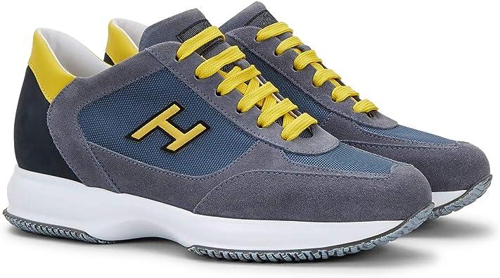 Hogan Scarpe Uomo Sneaker New Interactive Uomo Hxm00n0q102n6z50c0 Grigio Giallo Numeric 40 Point 5 Amazon It Scarpe E Borse