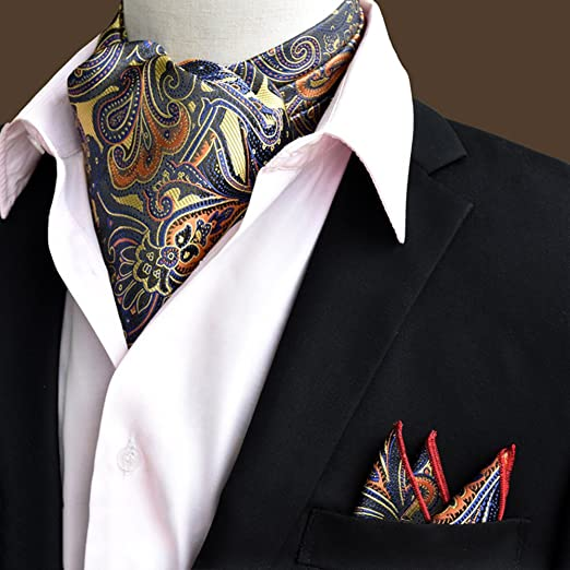 HAIPENG Masculino Seda Corbata Bufanda Hombres Ropa Formal Camisa ...