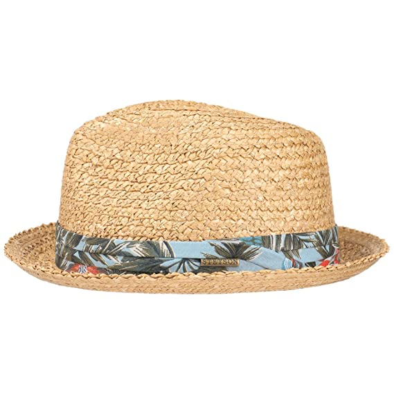 5a23b40d76af7e Stetson Flower Vintage Player Straw Hat Sun Beach: Amazon.co.uk: Clothing