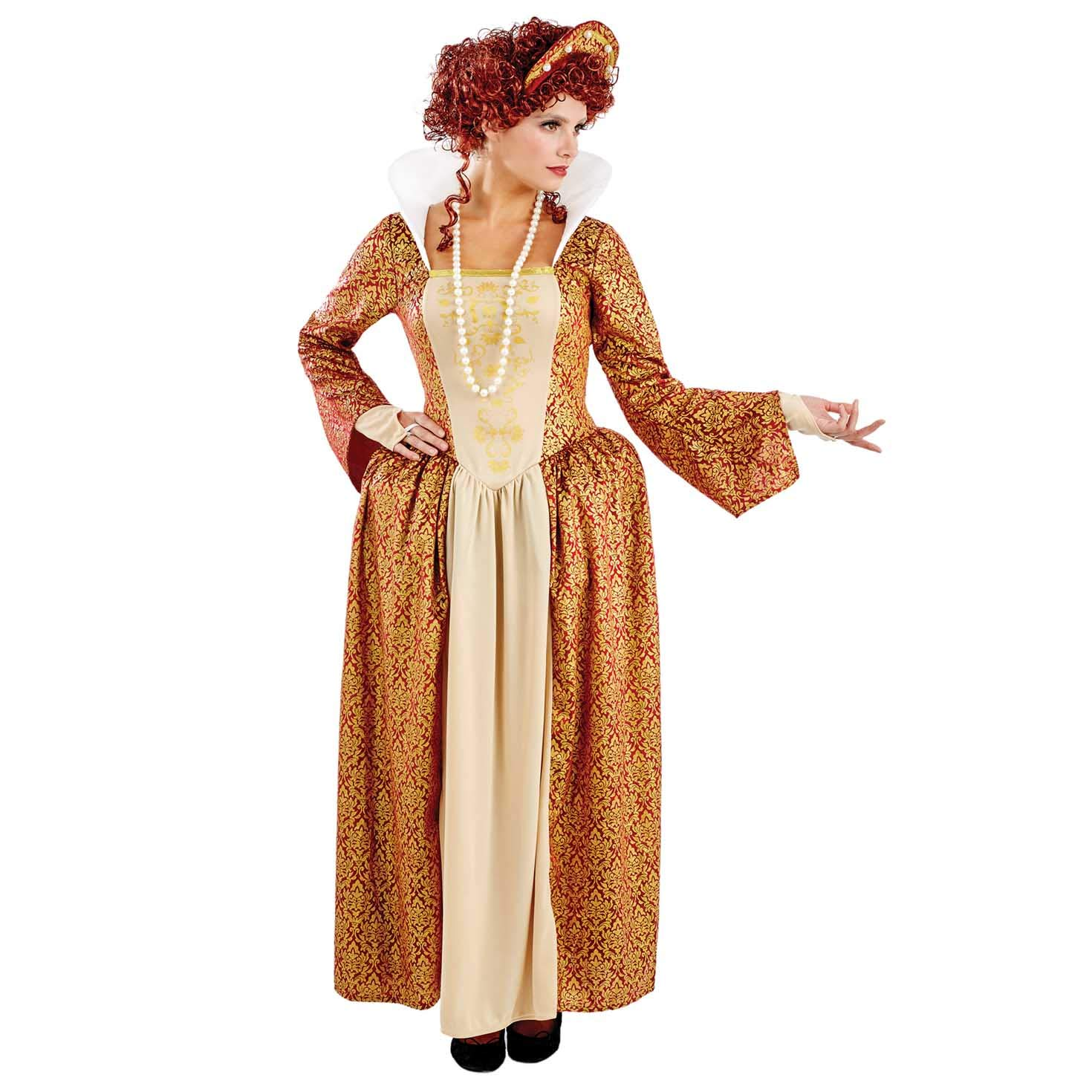 Medium Fun Shack Arancia Regina Tudor Costume per Donne