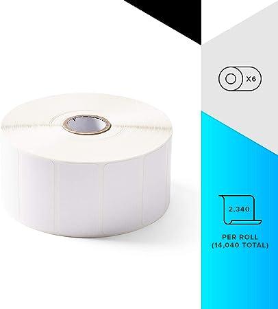 s Permanent Adhesive, Papel, T/érmica directa, 100mm x 150mm, 7,6 cm, 4080 pieza Etiquetas de impresora Zebra Z-Perform 1000D