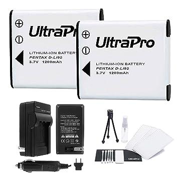 Amazon.com: Batería D-LI92 2-Pack Bundle con rápido cargador ...