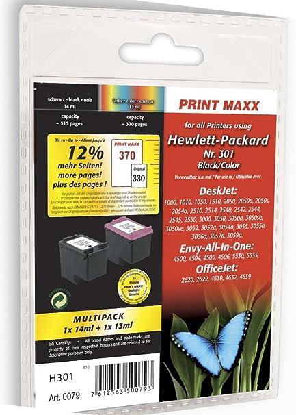 H301 HP nº 301 X L Negro & Color Compatible Multi Pack: Amazon.es ...