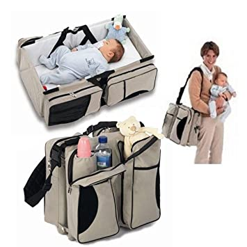 3 in 1 BABY CONVERTIBLE Safe Toddler Tote Bag Bed Infant CarryCot Diaper Nursery