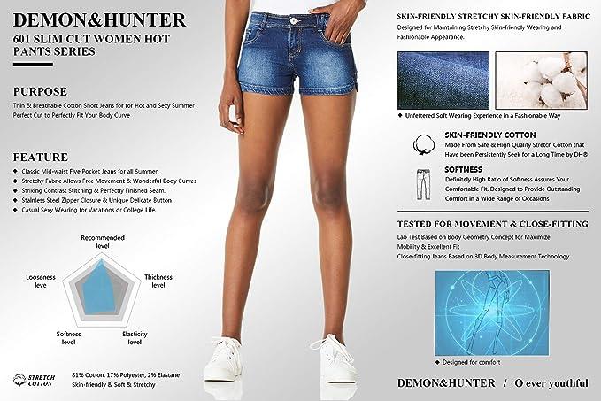 Demon/&Hunter 601 Series Juniors Denim Short