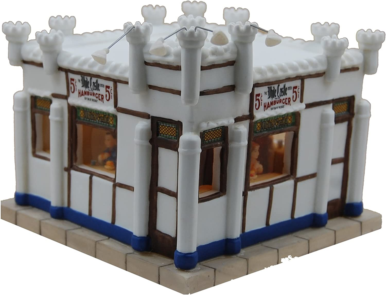 White Castle Hamburger Miniature Lit Building Dept 56 Scale