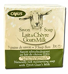 Canus Goat's Milk Soap with Olive Oil and Wheat Protein - 3 Pack