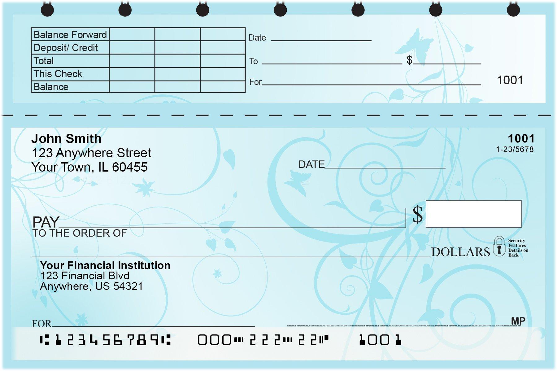 Vine Top Stub Personal Checks by CAROUSELCHECKS (Image #1)
