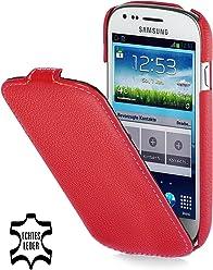 StilGut, UltraSlim, pochette exclusive pour le Samsung S3 mini i8190, rouge