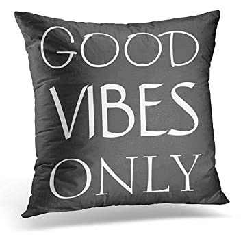 GAMSJM Personalized Throw Pillow Cover Girly Good Vibes Only Quote Phrase  Funny Pillowcase Cushion Cases Indoor 85e9a7e6d5