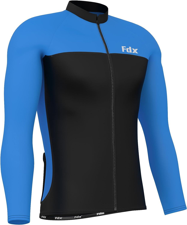 con manga larga /Camiseta de ciclismo para hombre t/érmica e ideal para el invierno FDX
