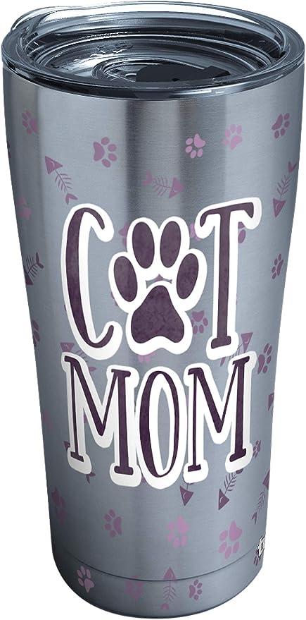Gift For Cat Loving Financial Advisors Him, Tumblers /& Water Glasses Gift For Her Fin Adv Cat Mom 20 Oz Black Drink Tumbler W Lid