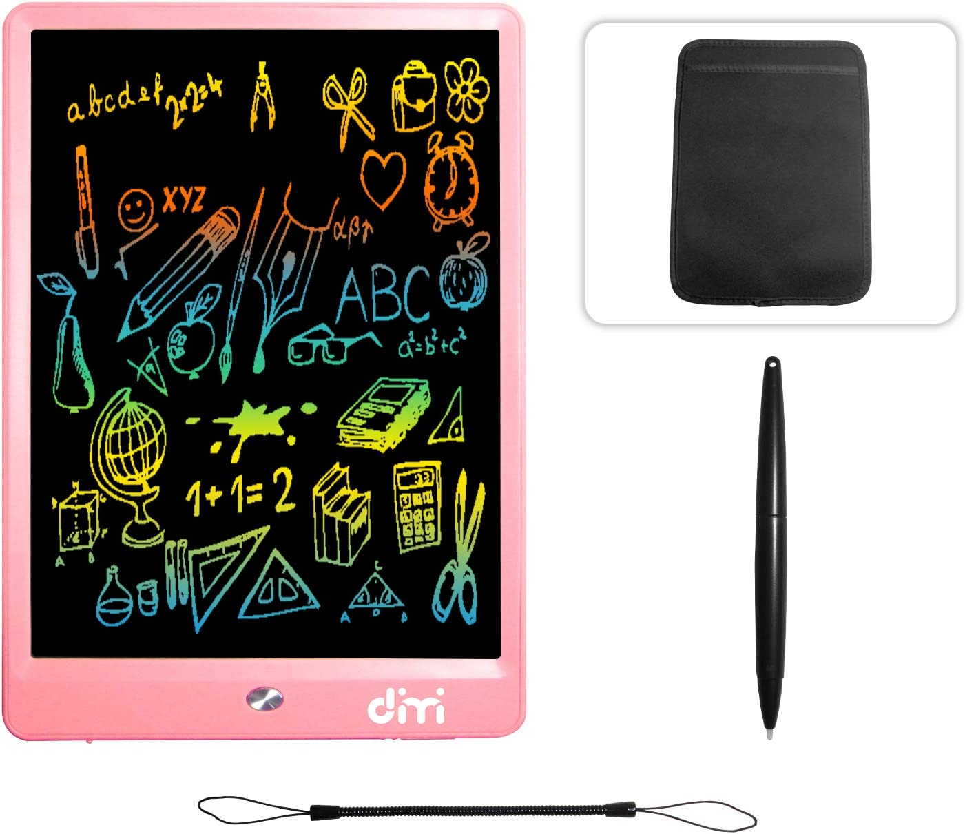 10 inch LCD Writing Tablet,Colorful Screen Electronic Writing Board Doodle Pads Drawing Board Gifts for Kids + Erase Button Lock Included(Orange +Case+ Lanyard)