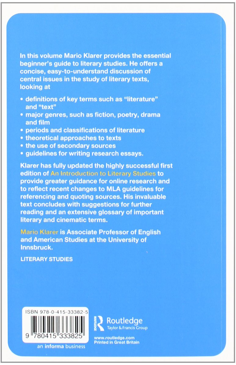 Buy An Introduction to Literary Studies Book Online at Low