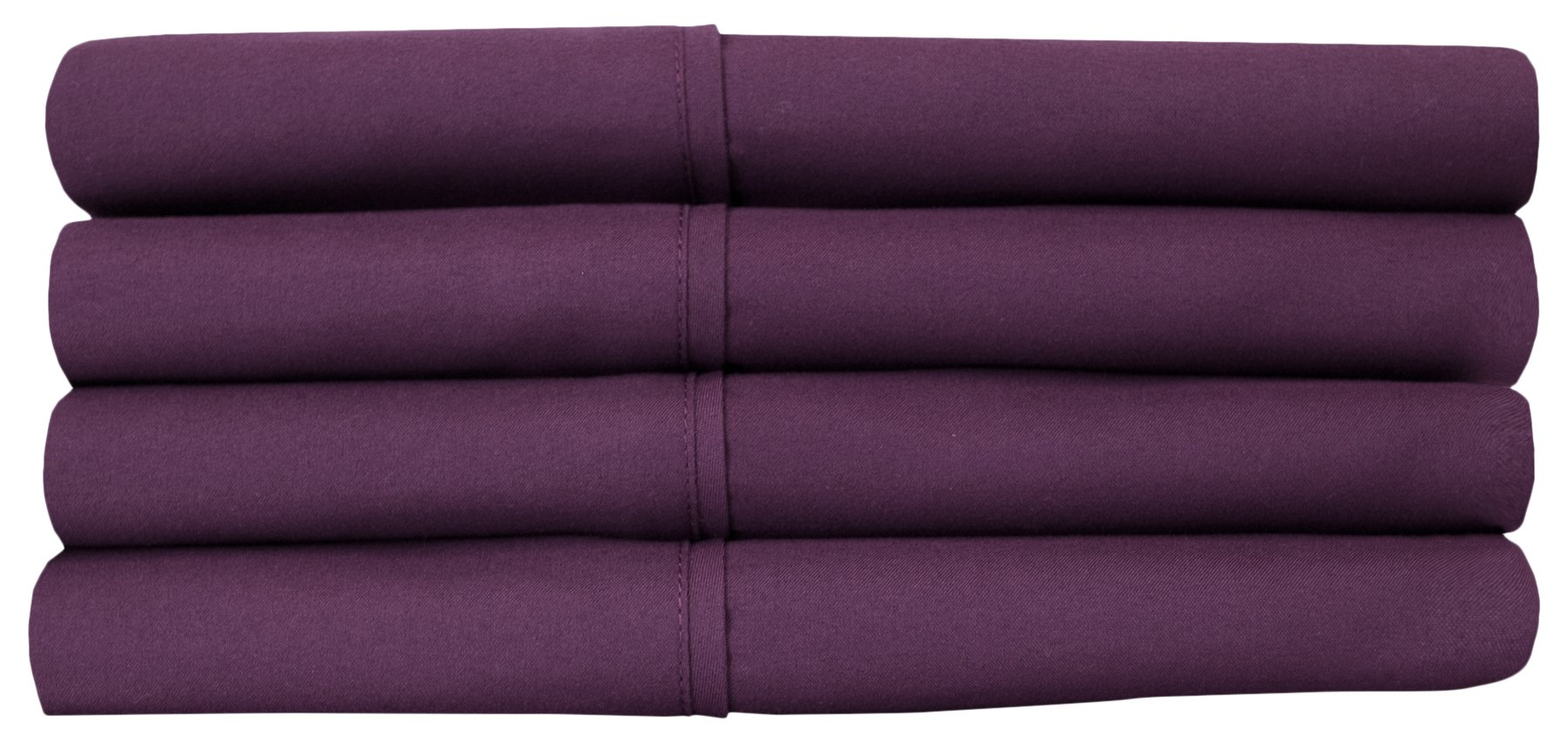 Sweet Home Collection Quality Deep Pocket Bed Sheet Set-2 Extra Pillow Cases, Great Value, Twin X-Large, Purple, 4 Piece