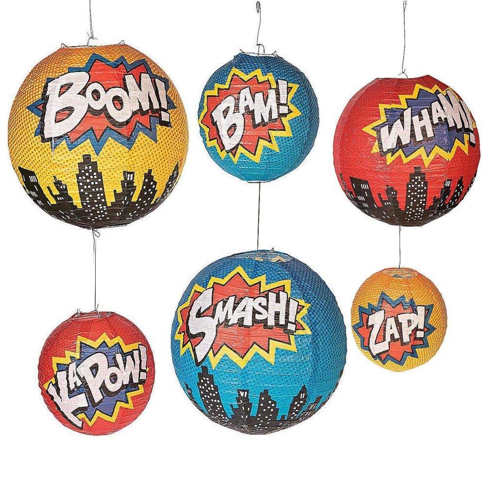 KUFUNG Superhero Paper Lanterns (set of 6) by KUFUNG (Image #1)