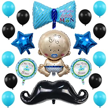 Amazon Welcome Little Man Mustache Baby Shower Balloons