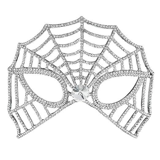 Amazon.com  Miallo Bridal Full Rhinestone Crystal Fancy Masquerade Eye Mask  for Halloween (Style3 )  Clothing 535bc23cf474