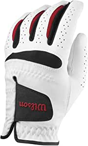Wilson Feel Plus Left-Hand Golf Glove, Men, White, Medium Large