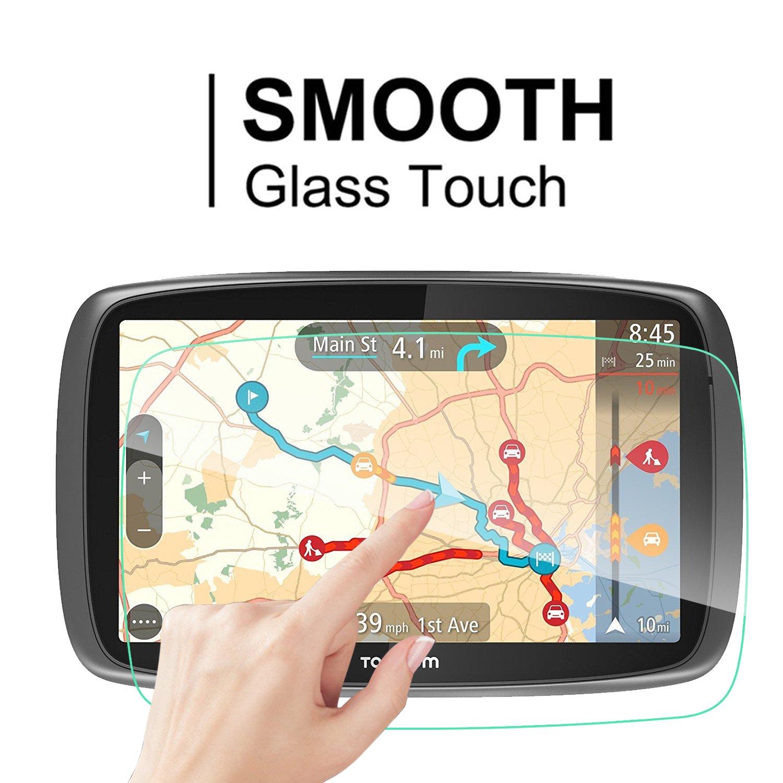 LFOTPP Protector de Pantalla para TomTom GO 600 6000 GPS 610 6100 World Pelicula Protectora de Cristal Templado 2 piezas 9H Anti-ara/ñazos Transparente