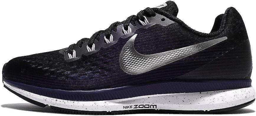 Nike 880560-001 - Zapatillas de running de competición de Sintético Mujer, Mujeres, Tinta plateada negra/metalizada., 3.5 UK: Amazon.es: Zapatos y complementos