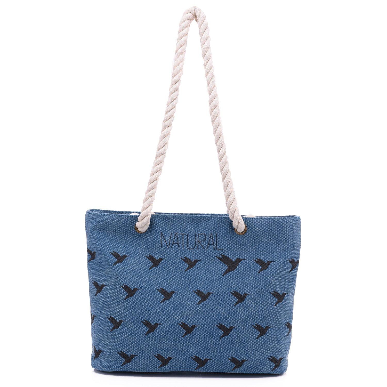 Hiigoo Women's Cotton Canvas Bags Casual Totes Fashion Handbags Shopping Bag Messenger Bag