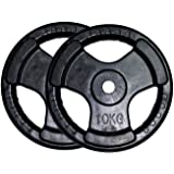 Facile Weight Plate 10 kg Rubber Coated, Black