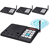 Intercoms Wireless for Home - GLCON Long Range 1 Mile Wireless Intercom System 10 Channel 3 Code - Room to Room Home…
