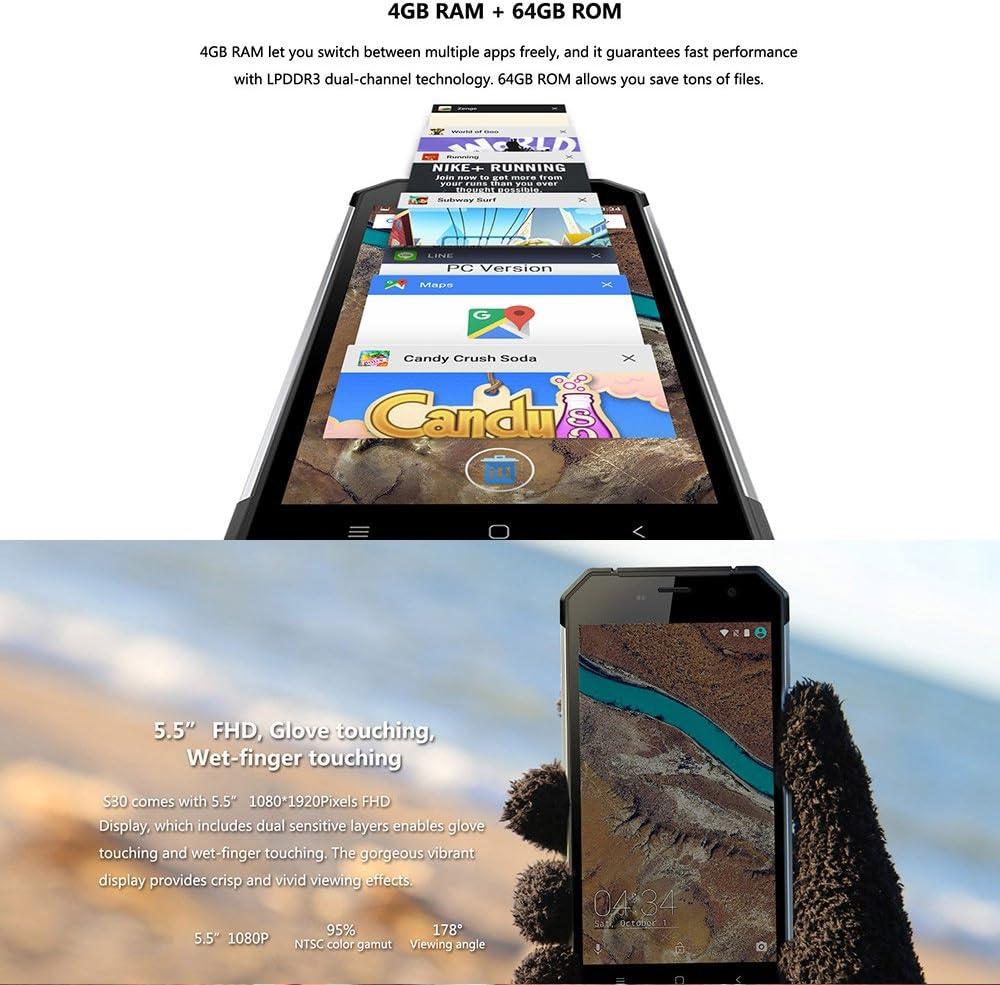 Nomu S30 Smartphone IP68 4GB RAM 64GB ROM Helio P10 MTK6755 2.0GHz ...