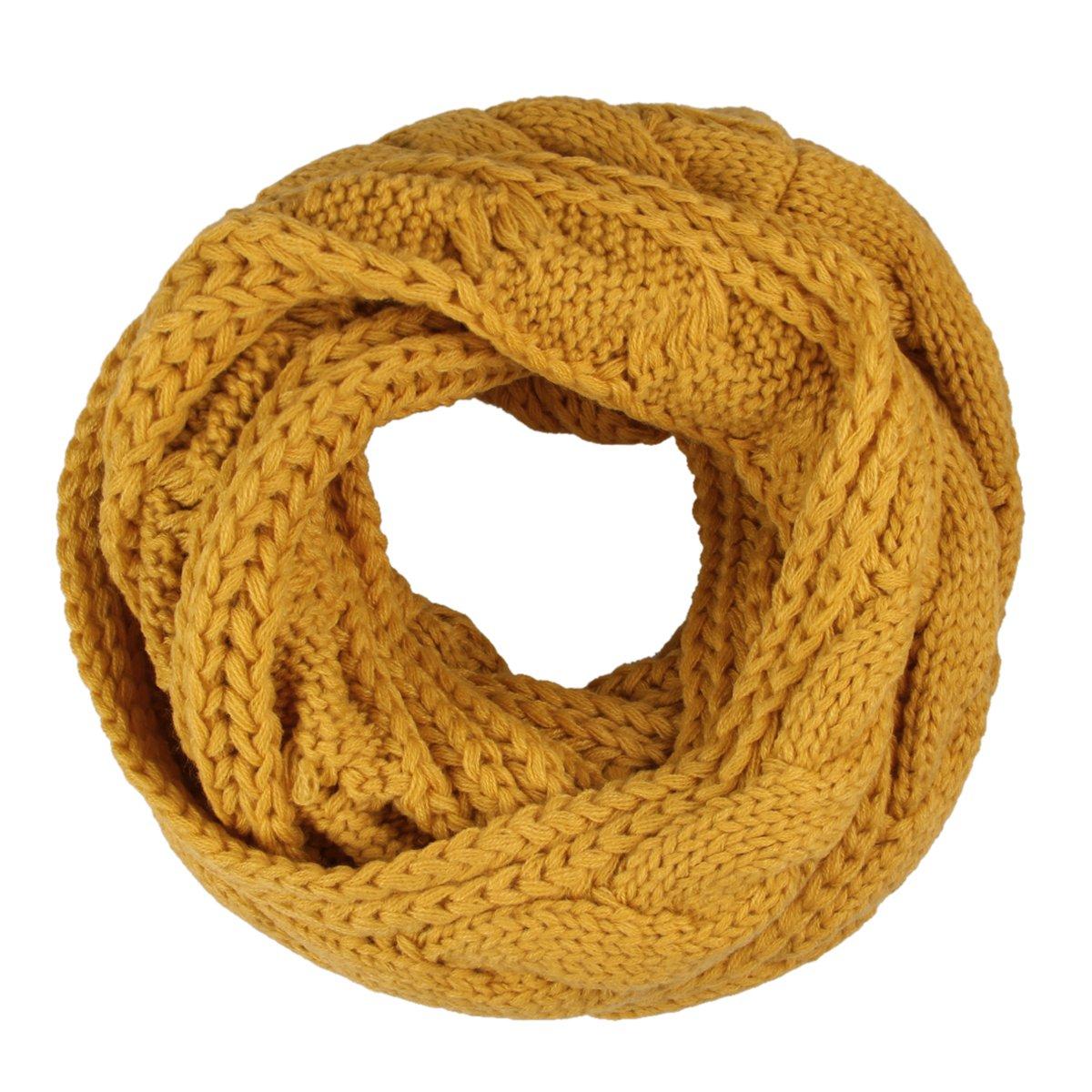 5f65204a245d Butterme Automne Hiver chaud couleur unie Echarpe tube tricoté Tails forme  Infinity Cercle Echarpe Chale Écharpe tubulaire pour Femme Homme   Amazon.fr  ...