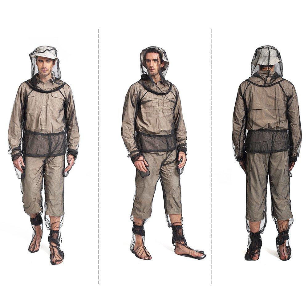 Lixada Moskito Anzug M/ückenschutz Kleidung mit f/ür Outdoor und Camping L