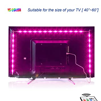 2m Led Tv Backlight Usb Bias Lighting With 16 Colors And 4 Dynamic